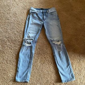 "COPY - Silver ""not your boyfriend's"" jeans 27 x 29"